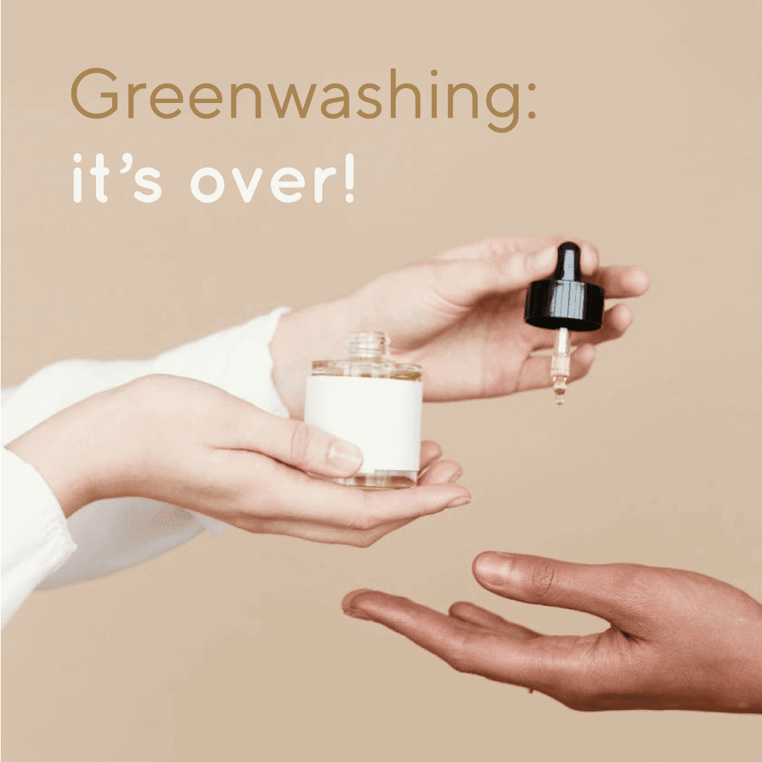 A person is giving oil to another one. Greenwashing is over.